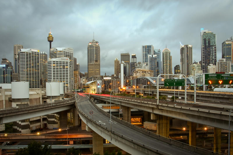 Download Sydney City, Australia, With Storm Clouds. Editorial Photography - Image: 17814722