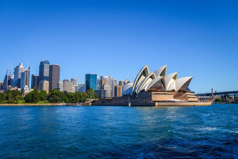 Sydney city center and Opera House, Australia stock images