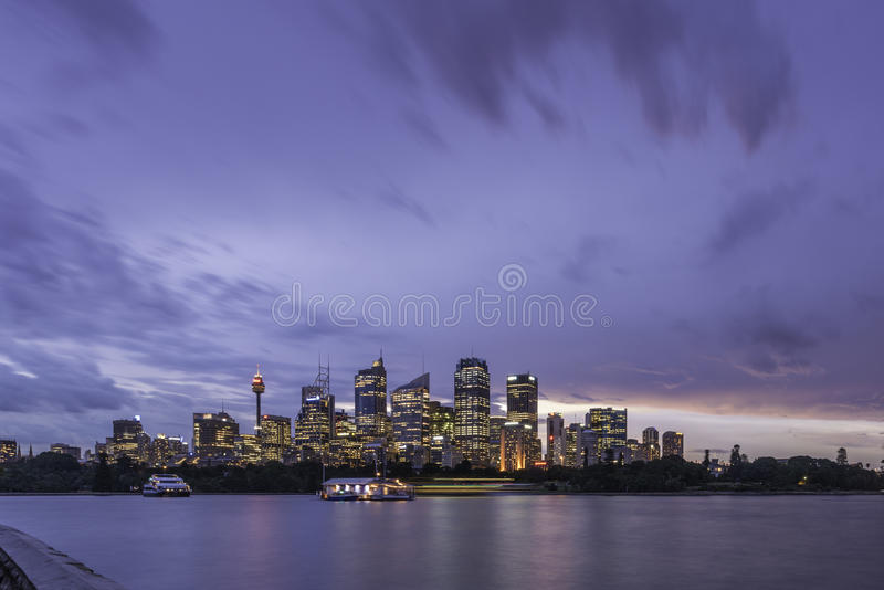 Sydney city night life royalty free stock image