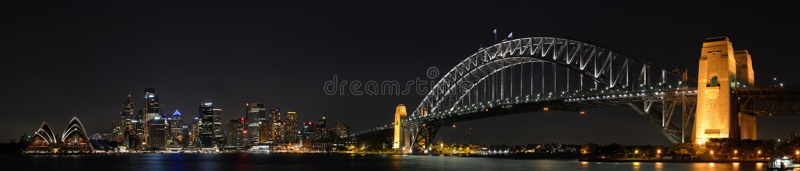 Sydney City Night Panorama royalty free stock photos
