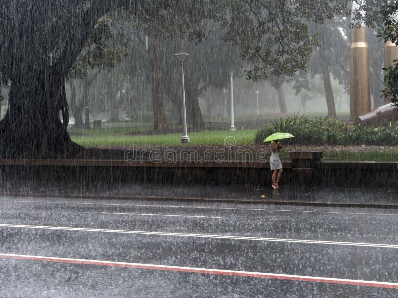 Sydney City Rain Storm images libres de droits