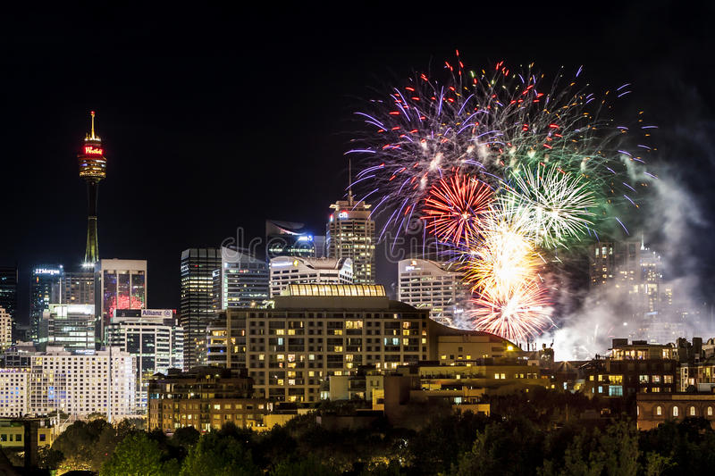 Download Sydney City Scape Fireworks Editorial Stock Photo - Image: 33808163