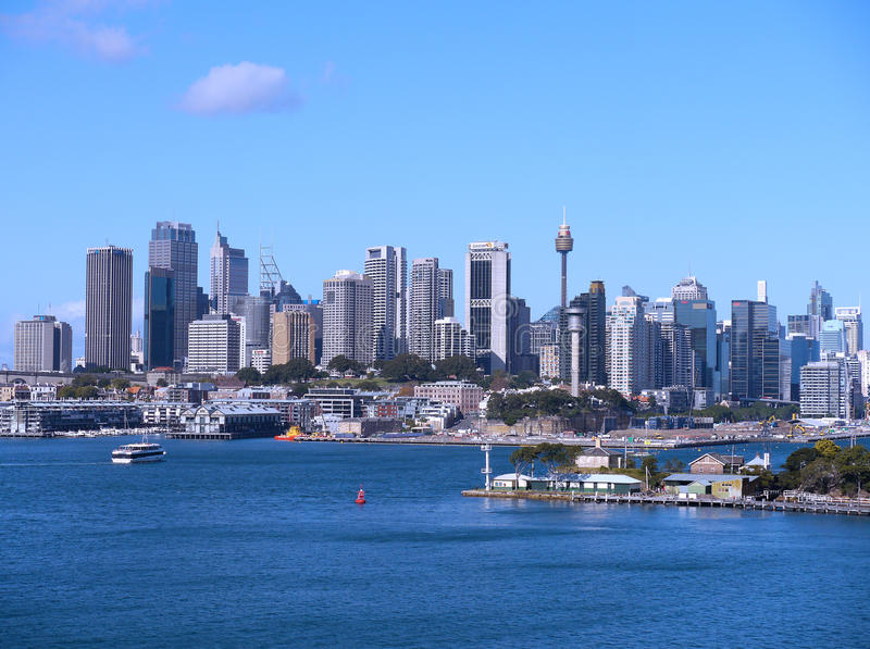 Sydney City Skyline foto de stock royalty free