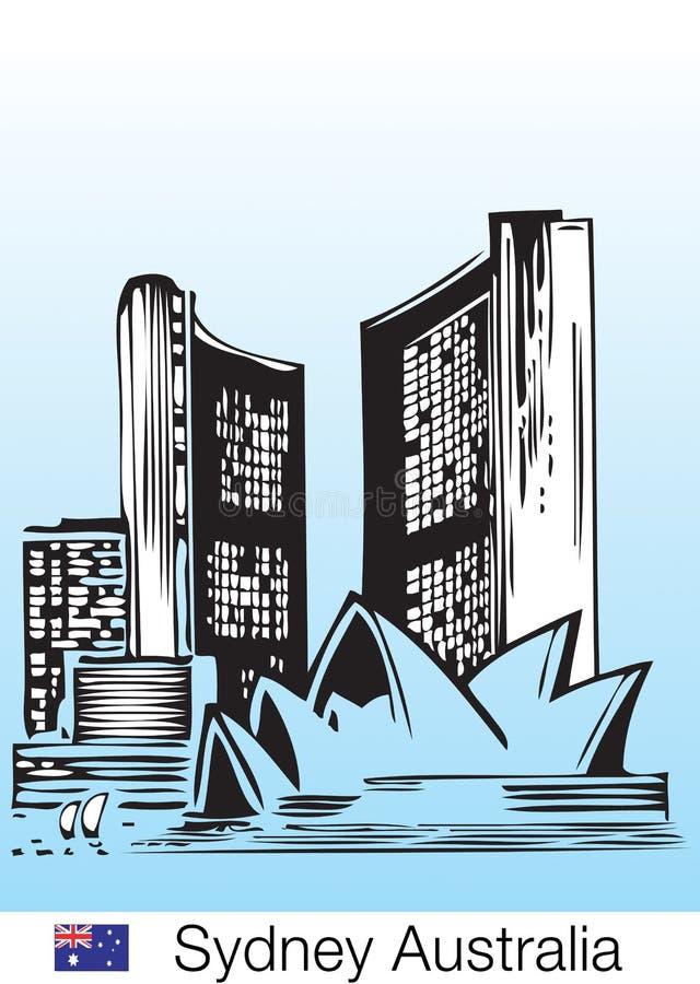Sydney city skyline royalty free illustration