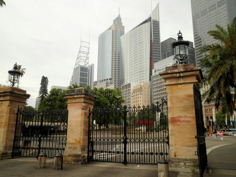 Sydney City Skyscrapers imágenes de archivo libres de regalías