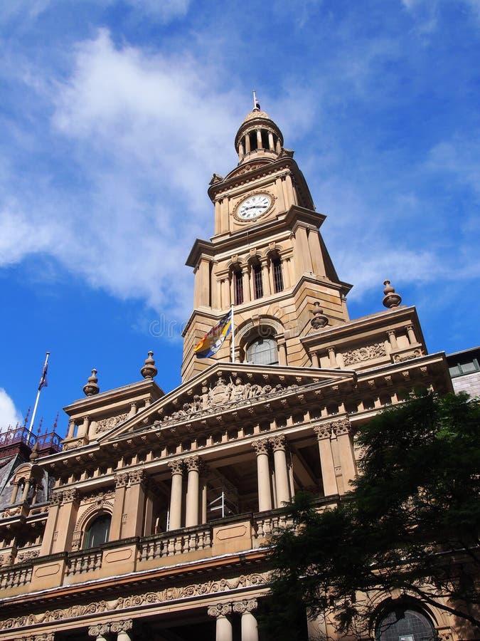 Sydney City Town Hall lizenzfreie stockbilder