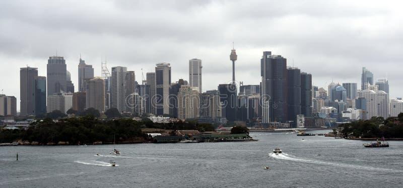 Sydney city view on Australia Day stock photo