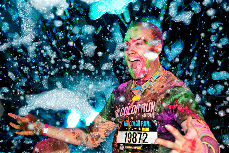 Sydney Color Run Night fotografia de stock