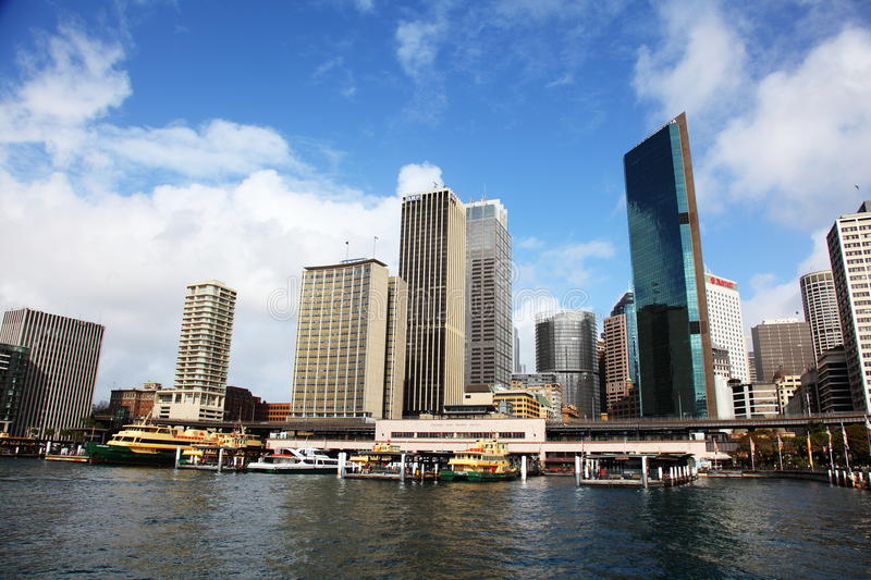 Sydney Cover and Ferries within Sydney Harbour royalty free stock image
