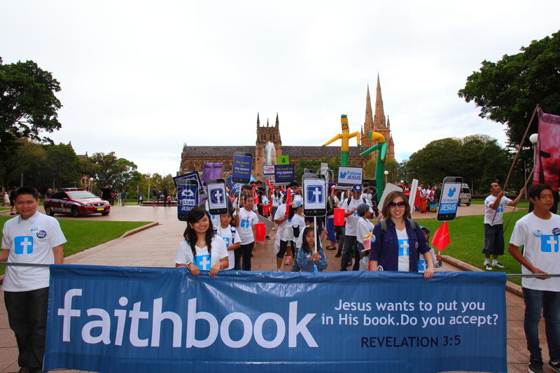 Sydney Easter Parade-geloof royalty-vrije stock foto
