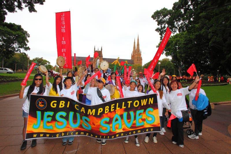Sydney Easter Parade-jubileum royalty-vrije stock afbeelding