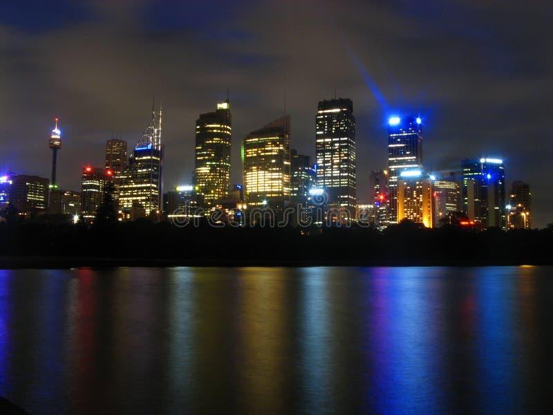 Sydney em Noite imagens de stock royalty free