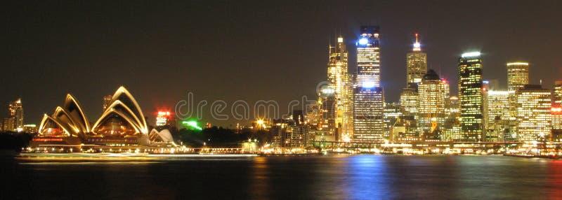 Sydney em a noite, Austrália imagens de stock royalty free