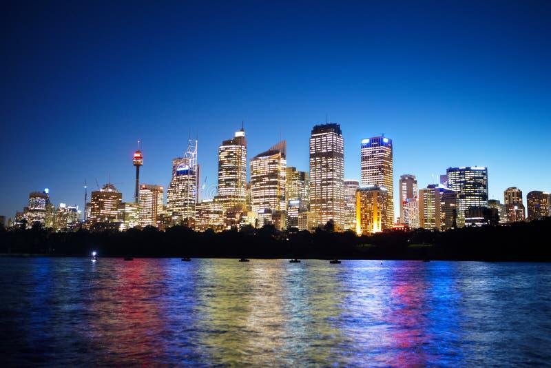 Sydney en el nite fotos de archivo libres de regalías
