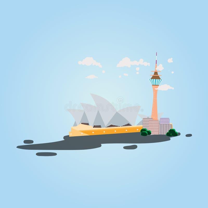 Sydney Australia landmark vector aussie royalty free stock photos