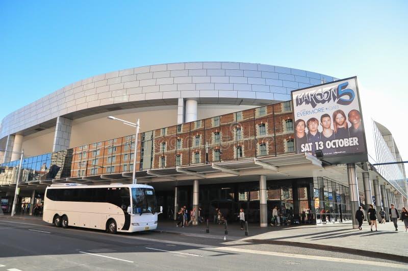 Sydney Entertainment Centre en arena som som kan användas till mycket lokaliseras i Haymarket royaltyfri fotografi