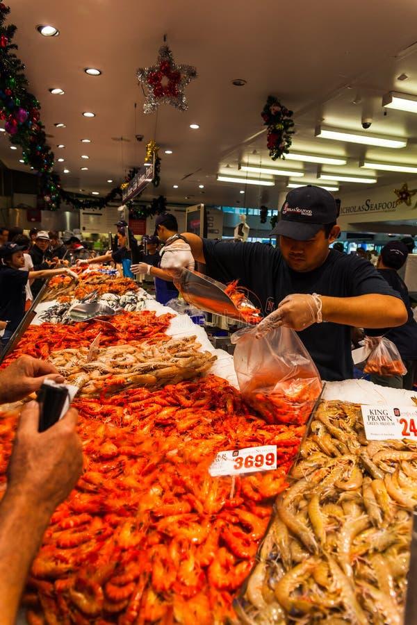 Sydney Fish Market imagens de stock