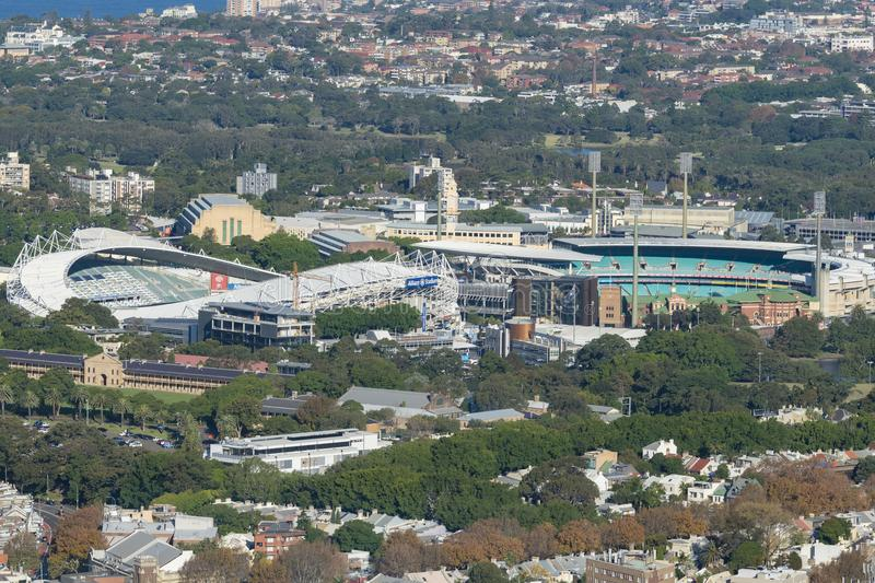 Sydney Football Stadium y Sydney Cricket Ground fotos de archivo