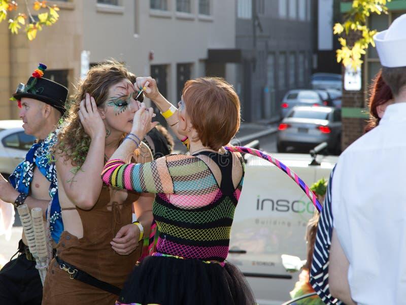 Sydney Gay y lesbiana Mardi Gras imagen de archivo libre de regalías