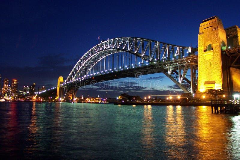 Sydney-Hafen-Brücke stockfotos