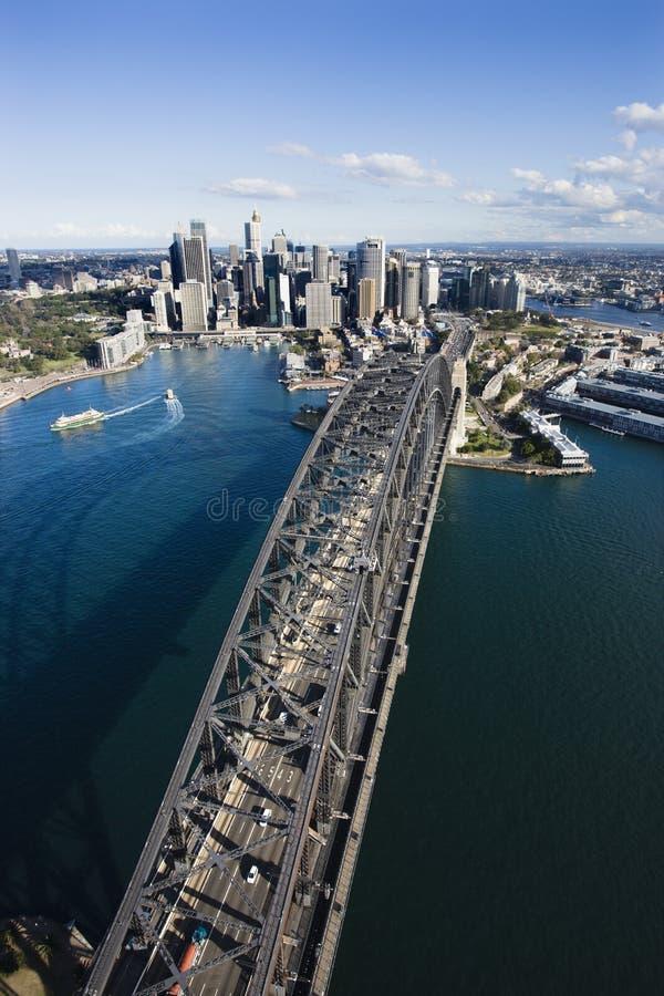 Sydney-Hafen-Brücke. stockfotografie