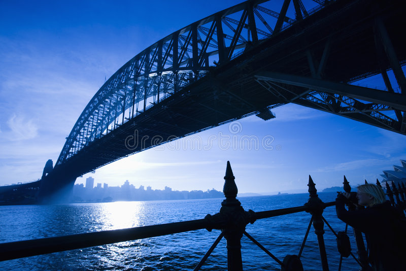 Sydney-Hafen-Brücke. lizenzfreies stockfoto