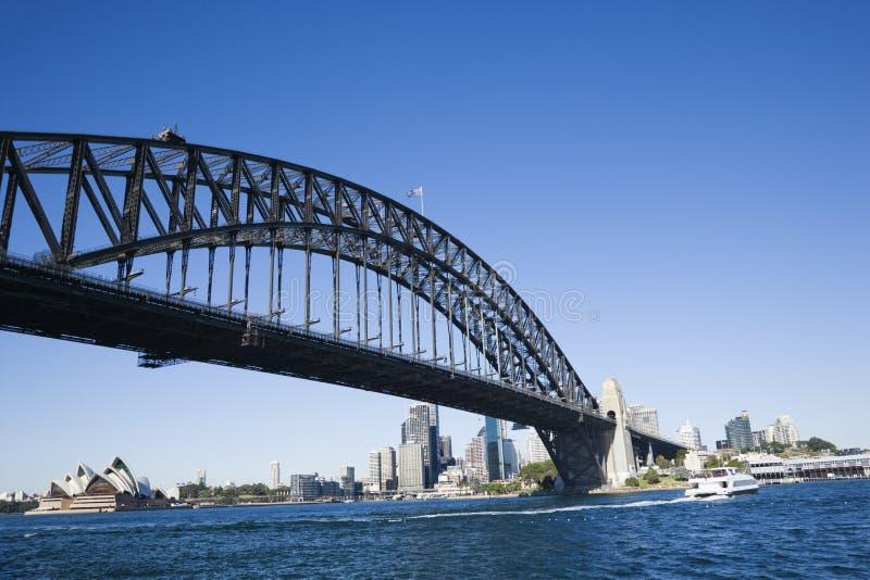 Sydney-Hafen-Brücke. lizenzfreie stockfotografie