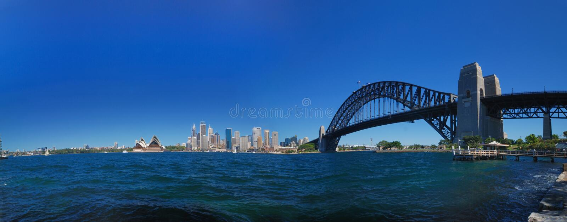 Sydney-Hafen-Brücken-Panorama lizenzfreies stockfoto