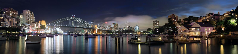 Sydney-Hafen Pano stockfotografie