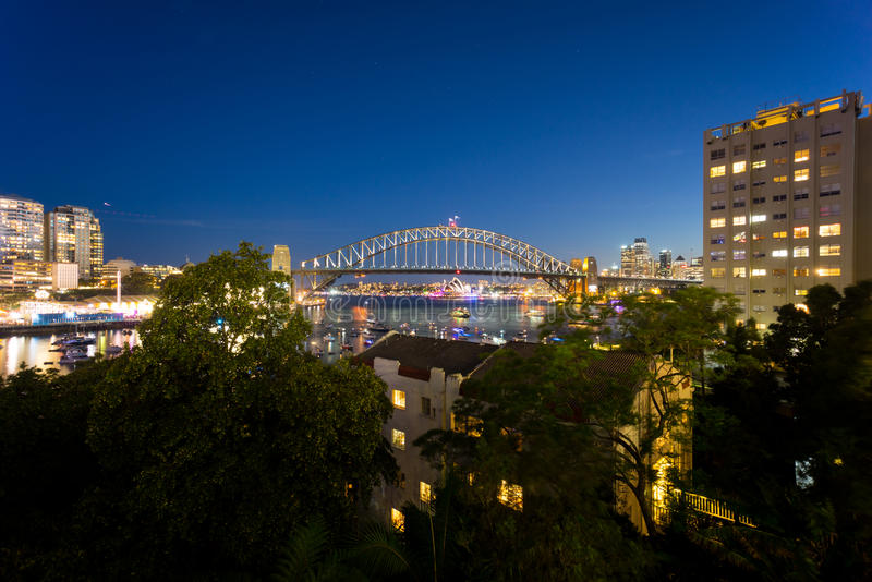 Sydney Harbor Bridge and Opera House royalty free stock photography