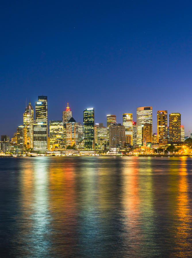 Sydney Harbor Cityscape. Iew of the Sydney Harbor and cityscape stock images