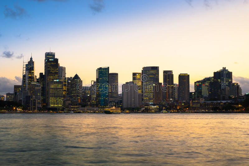 Sydney Harbor and cityscape. View of the Sydney Harbor and cityscape stock image