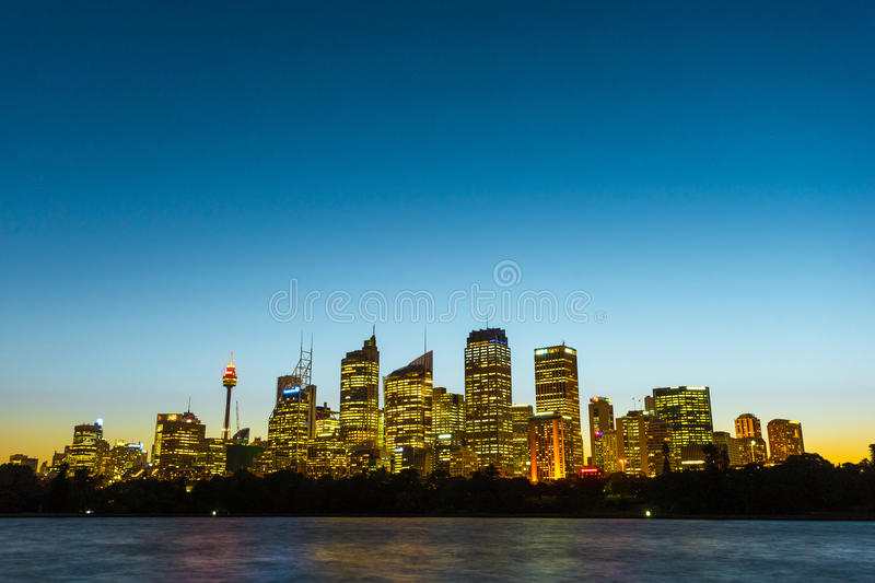Sydney Harbor Cityscape. View of the Sydney Harbor and cityscape royalty free stock photos