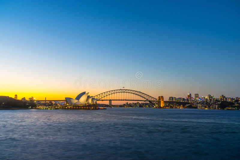 Sydney Harbor Cityscape. View of the Sydney Harbor and cityscape royalty free stock image