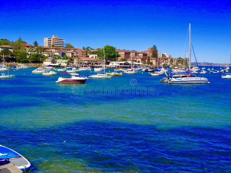 Sydney Harbor con le barche fotografia stock