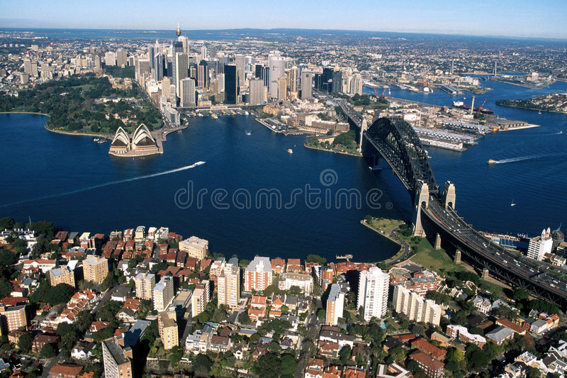 Download Sydney Harbour 001 stock photo. Image of above, boats - 1917972