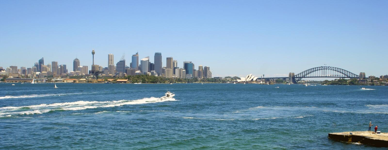Sydney harbour australii obrazy royalty free