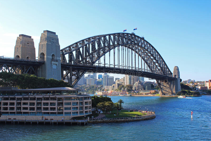 Sydney harbour bridge royalty free stock photo