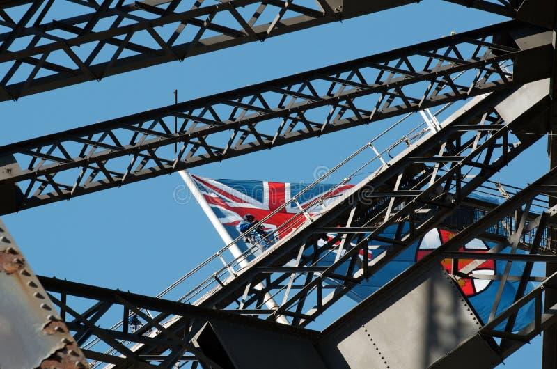 Sydney Harbour Bridge climb stock image