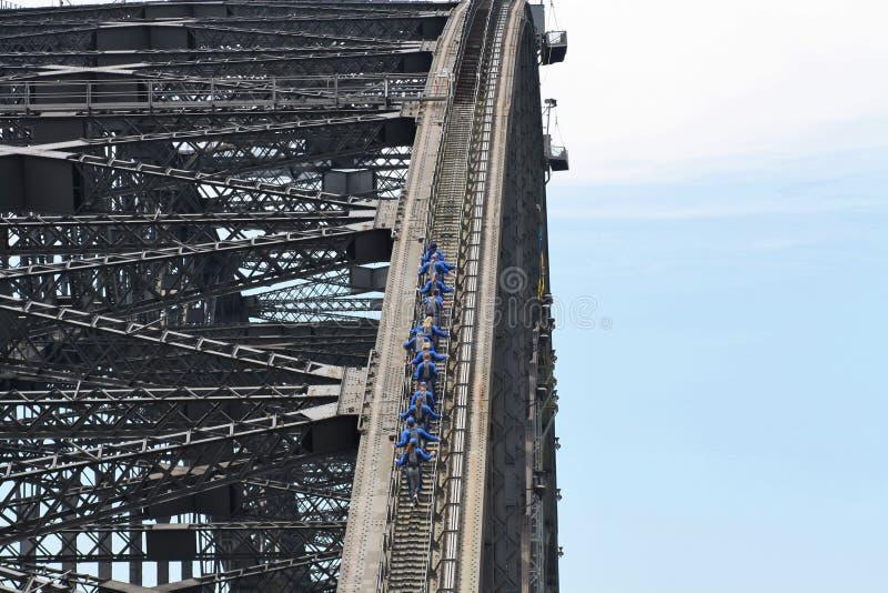 Sydney Harbour Bridge Climb stock fotografie