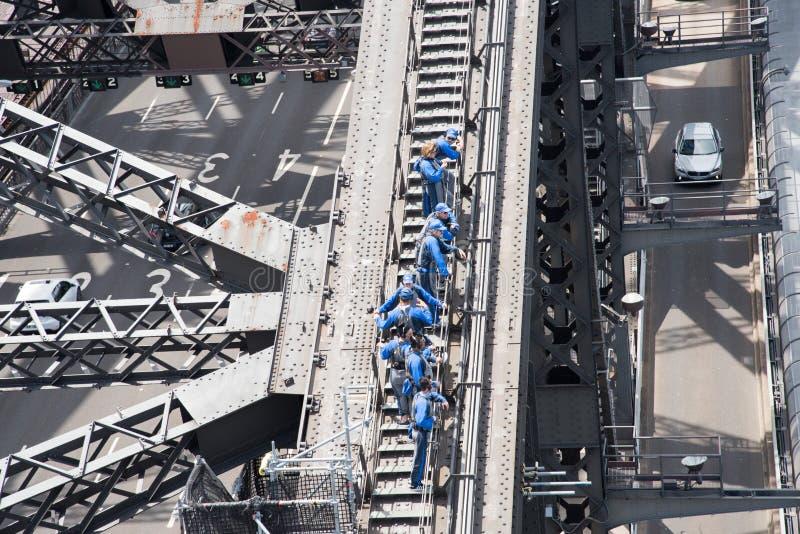 Sydney Harbour Bridge Climb Group stock fotografie