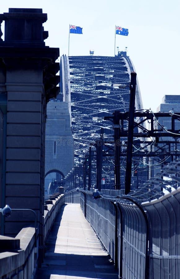 Sydney Harbour Bridge Cycleway royalty free stock photos