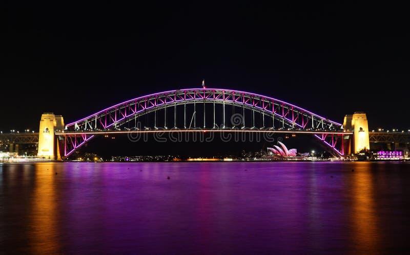 Download Sydney Harbour Bridge En Rosa Foto editorial - Imagen de estructura, monumento: 41913851