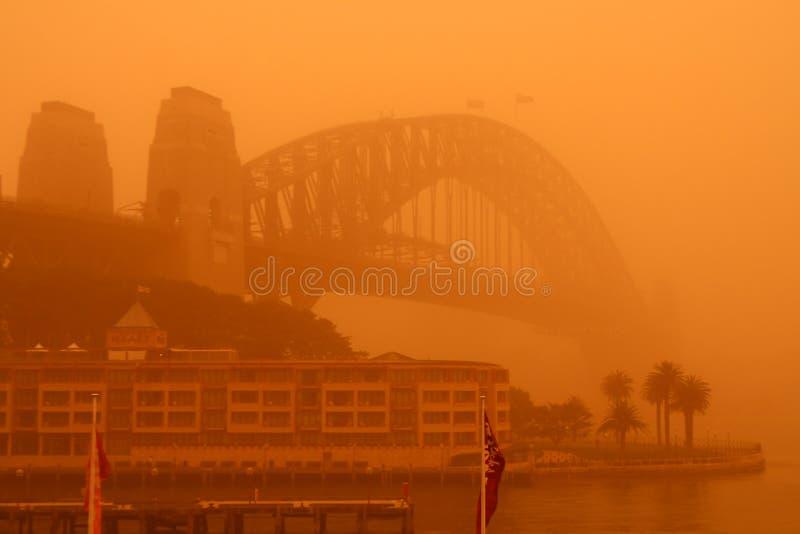 Download Sydney Harbour Bridge During Extreme Dust Storm. Editorial Image - Image: 11042475