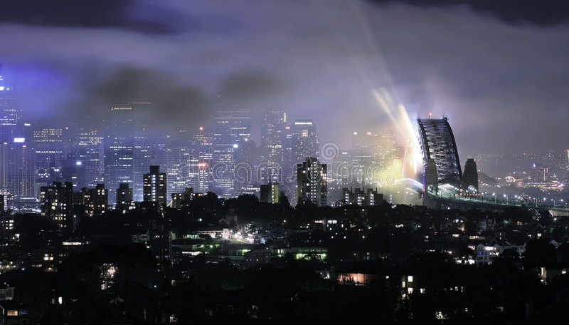 Download Sydney Harbour Bridge - After The Fireworks 08/09 Editorial Photo - Image of sydney, lights: 7598721
