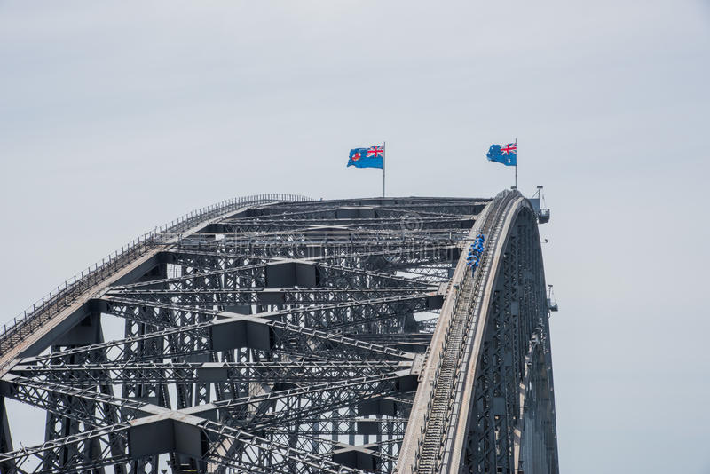 Sydney Harbour Bridge Heights royalty free stock photos