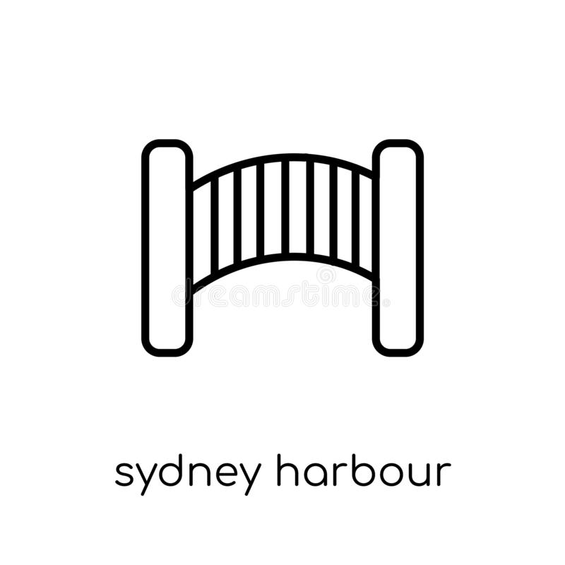 Sydney Harbour Bridge icon from Australia collection. Sydney harbour bridge icon. Trendy modern flat linear vector sydney harbour bridge icon on white royalty free illustration