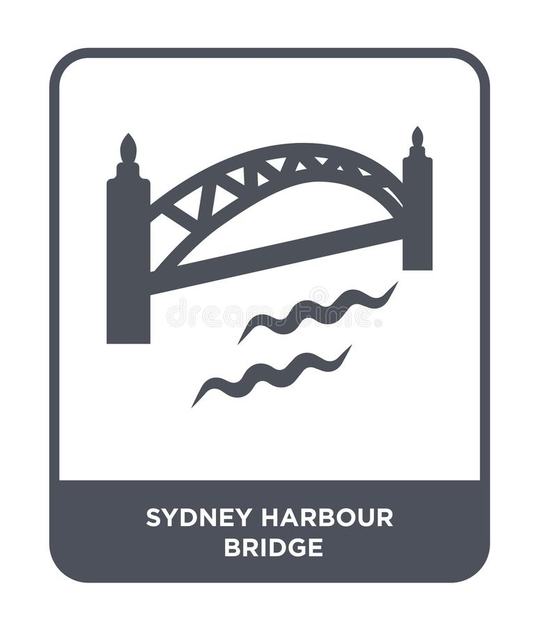 Sydney harbour bridge icon in trendy design style. sydney harbour bridge icon isolated on white background. sydney harbour bridge. Vector icon simple and modern stock illustration