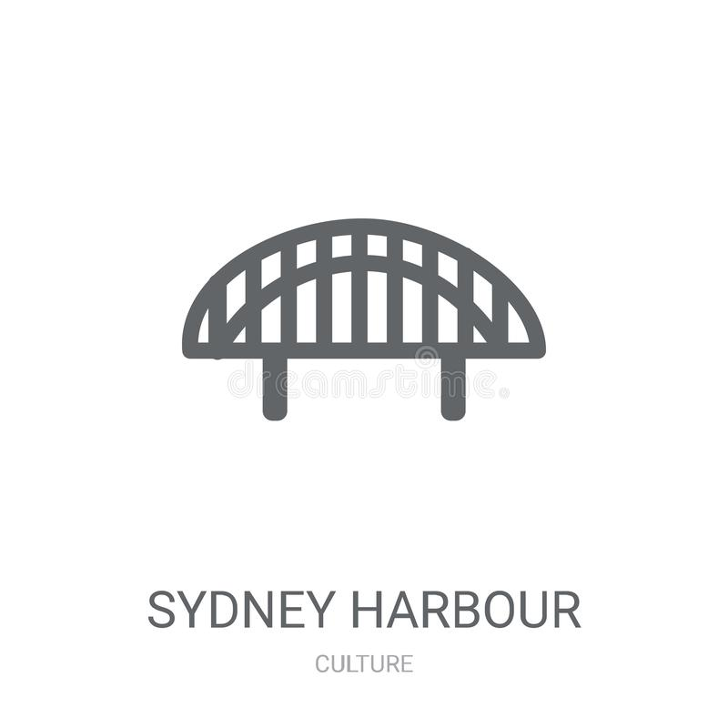 Sydney Harbour Bridge icon. Trendy Sydney Harbour Bridge logo co. Ncept on white background from Culture collection. Suitable for use on web apps, mobile apps vector illustration
