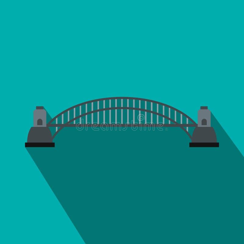 Sydney Harbour Bridge-Ikone, flache Art lizenzfreie abbildung